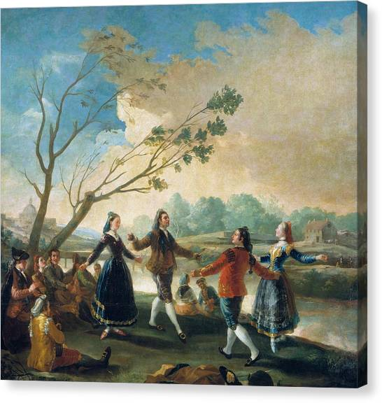 The Prado Canvas Print - Dance On The Banks Of The Manzanares by Francisco Goya