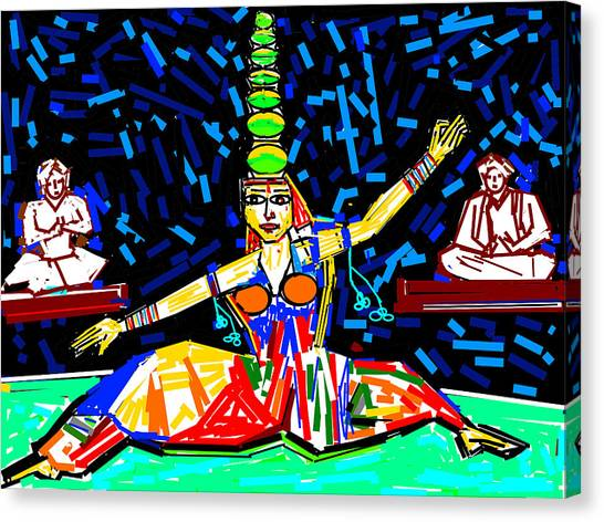Dance With Pots Canvas Print by Anand Swaroop Manchiraju