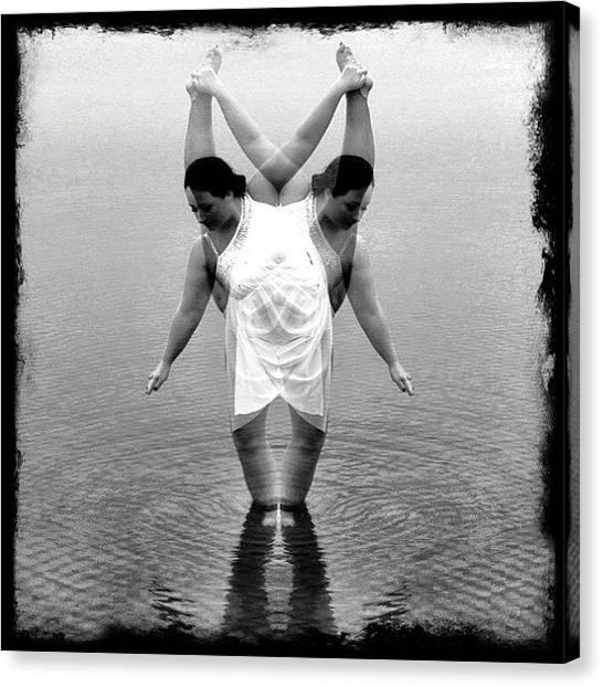 Ballet Canvas Print - #dance#blackandwhite #allshots_ by Melissa Mariani