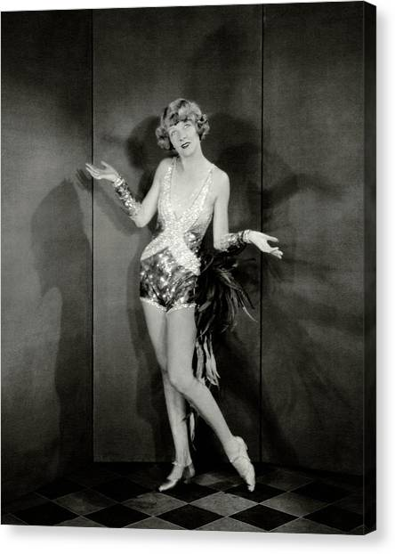 Tap Dance Canvas Print - Dancer Frances Williams In The Play Scandals by Charles Sheeler