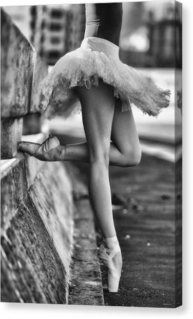 Toes Canvas Print - Dancer by Michael Groenewald