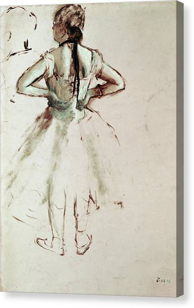 Edgar Degas Canvas Print - Dancer Viewed From The Back by Edgar Degas