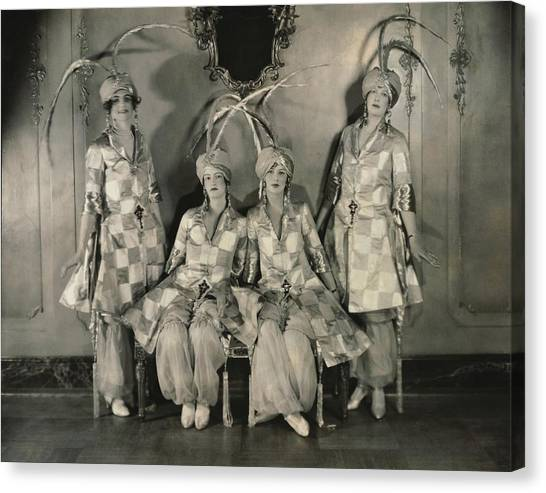Big Sister Canvas Print - Dancers In Persian Costumes by Edward Steichen