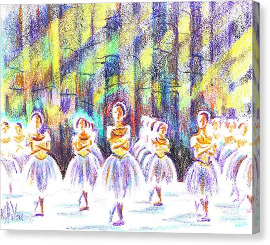 Adele Canvas Print - Dancers In The Forest by Kip DeVore