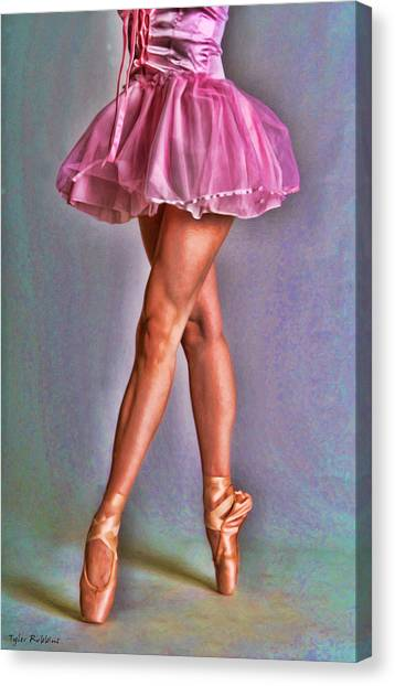 Dancer's Legs Canvas Print