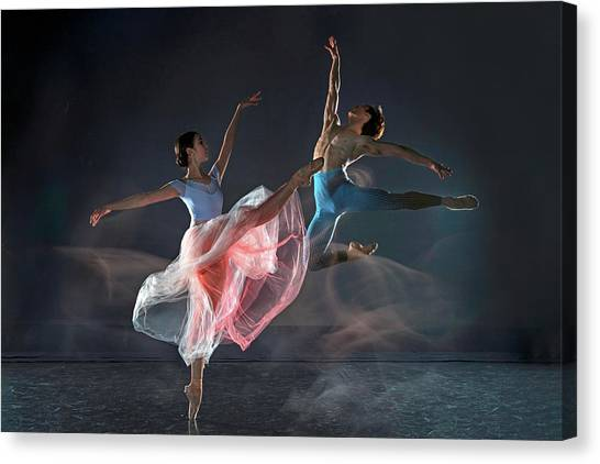 Acrobatic Canvas Print - Dancers by Libby Zhang