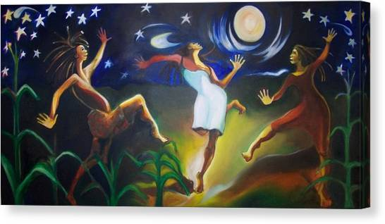 Dancin In The Moonlight Canvas Print by Joyce McEwen Crawford