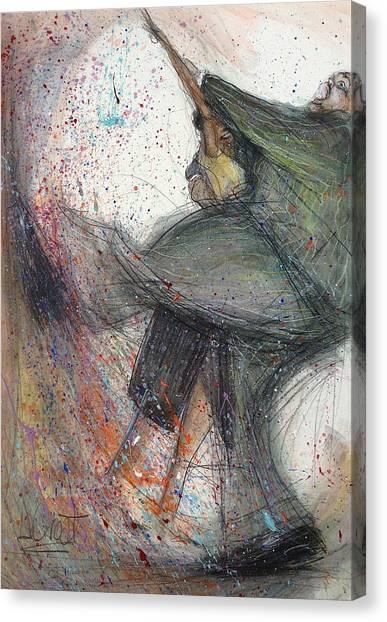 Dancin' Up A Storm Canvas Print