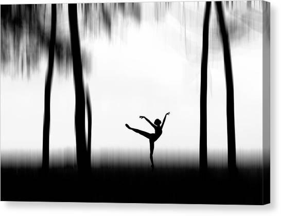 Ballerinas Canvas Print - Dancing by Bocah Bocor