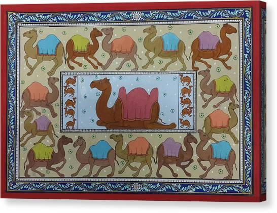 Dancing Camels Canvas Print