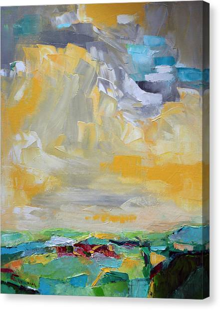 Becky Kim Artist Canvas Print - Dancing Clouds  by Becky Kim