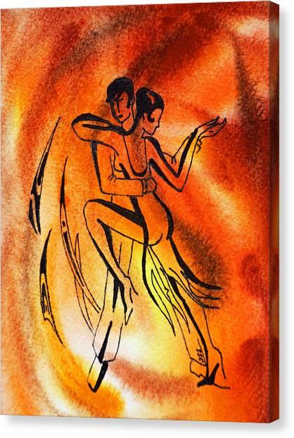 Flamenco Canvas Print - Dancing Fire Iv by Irina Sztukowski