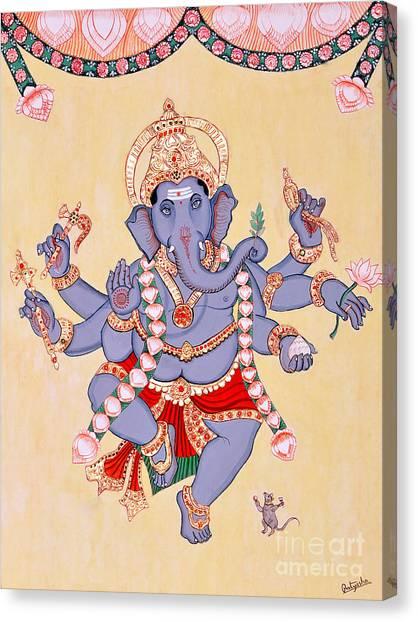 Nritya Ganapati Canvas Print