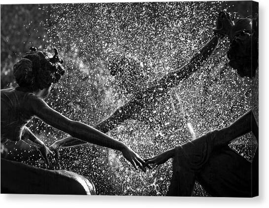 Dancing Girls Of Central Park Canvas Print