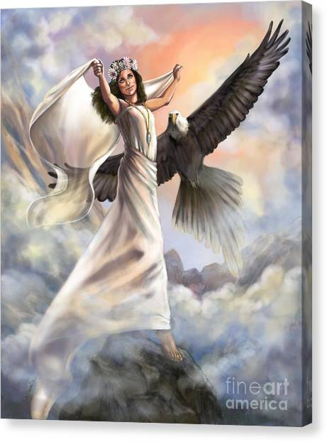 Prophetic Art Canvas Print - Dancing In Glory by Tamer and Cindy Elsharouni