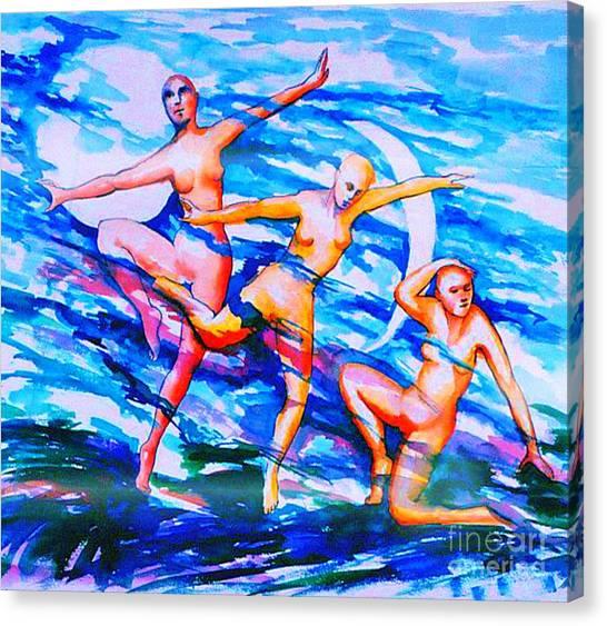 Dancing In Moonlight Canvas Print