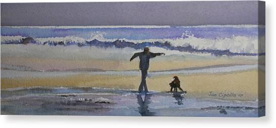 Dancing On The Beach Canvas Print