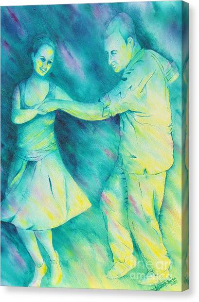 Dancing On The Plaza Canvas Print