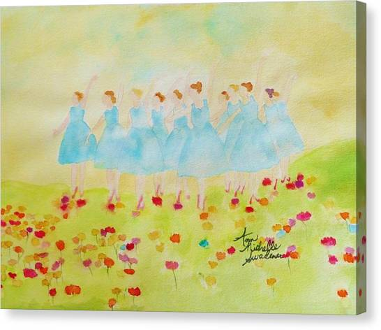 Dancing On Top Of The Flowers Canvas Print