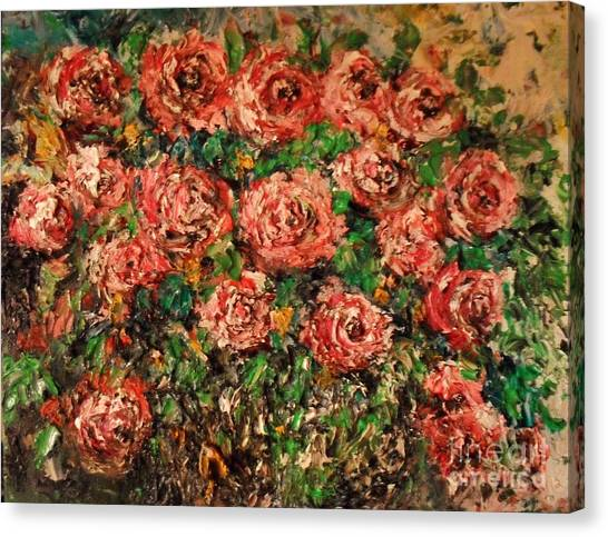 Dancing Red Roses Canvas Print