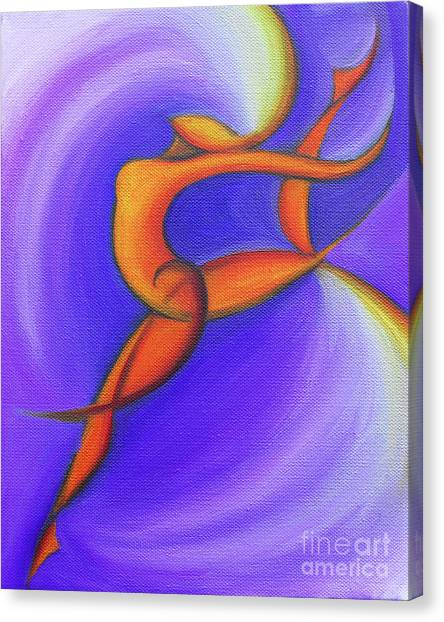 Dancing Sprite In Purple And Orange Canvas Print