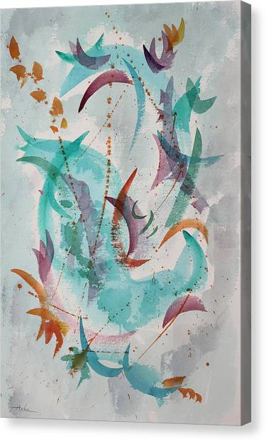 Dancing The New Year In Canvas Print