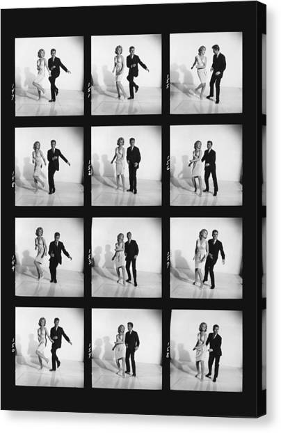 Demo Canvas Print - Dancing The Twist by Underwood Archives