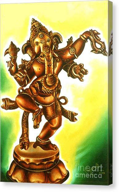 Dancing Vinayaga Canvas Print
