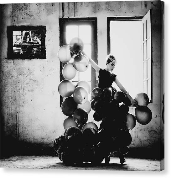 Balloons Canvas Print - Dancing With Loneliness by Yugie Potret