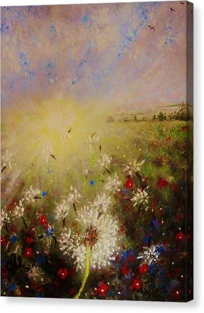 Dancing With The Sun... Canvas Print