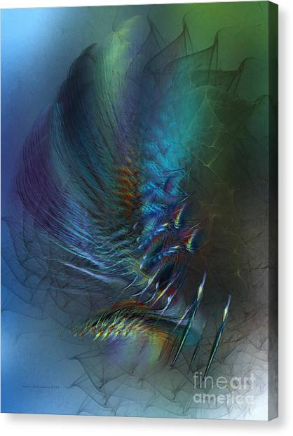 Dancing With The Wind-abstract Art Canvas Print
