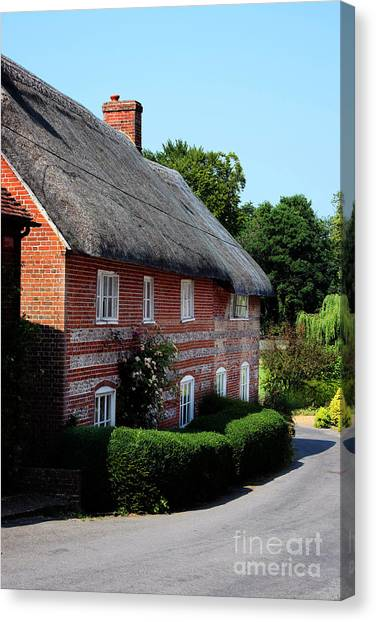 Dane Cottage Nether Wallop Canvas Print