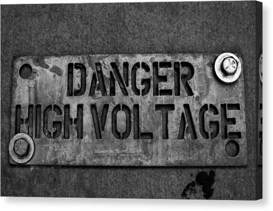 Danger High Voltage Canvas Print