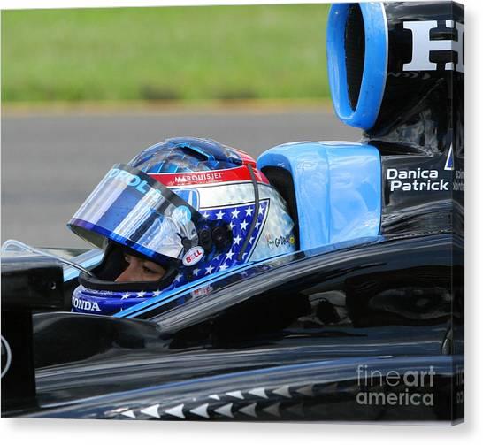Danica Patrick Canvas Print - Danica Patrick Ready To Race by Patrick Morgan