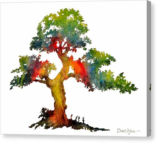 Da140 Rainbow Tree Daniel Adams Canvas Print