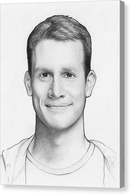 Pencils Canvas Print - Daniel Tosh by Olga Shvartsur