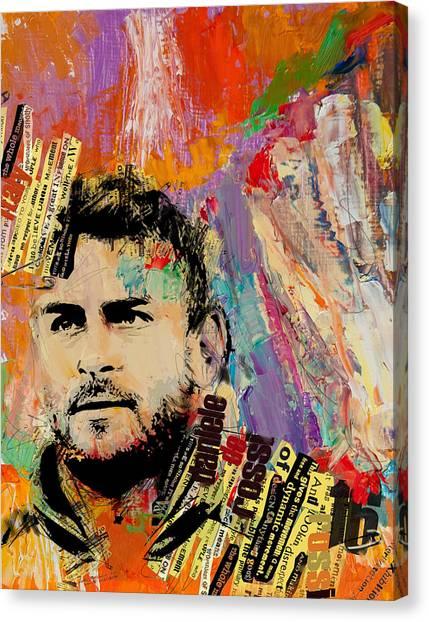 Premier League Canvas Print - Daniele De Rossi by Corporate Art Task Force