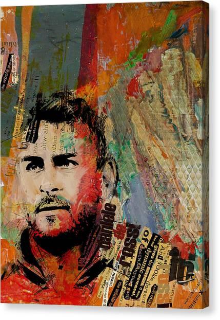 Manchester United Canvas Print - Daniele Di Rossi - B by Corporate Art Task Force