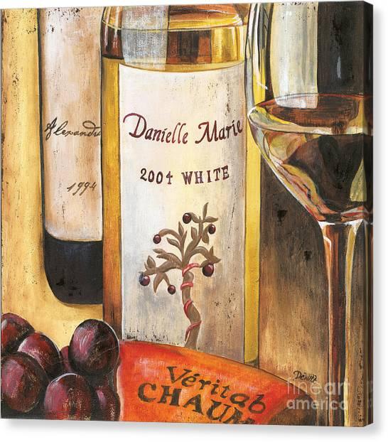 White Wine Canvas Print - Danielle Marie 2004 by Debbie DeWitt