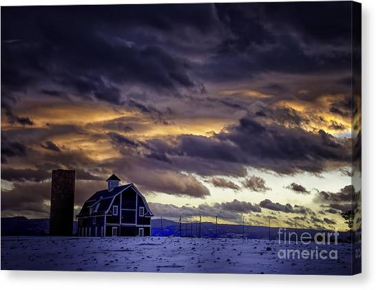 Daniel's Foreboding Sunset Canvas Print