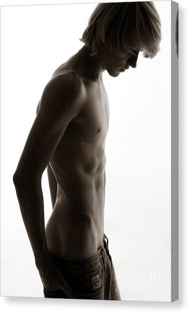 Male Nudes Canvas Print - Dank by David  Rusch