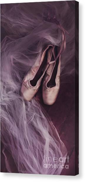 Ballet Shoes Canvas Print - Danse Classique by Priska Wettstein