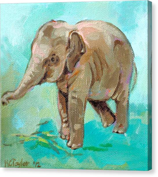 Dante Teal Canvas Print by Kathleen Taylor