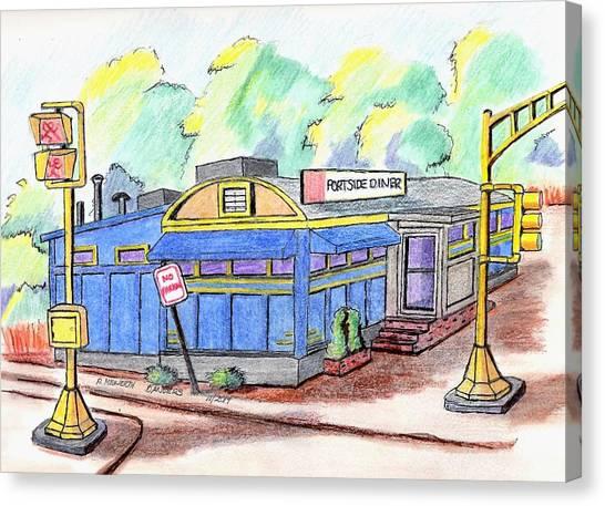 Danvers Port Diner Canvas Print
