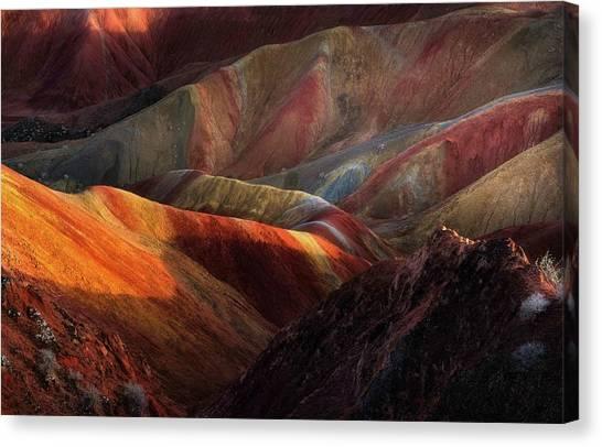 Colour Canvas Print - Danxia Landforms by Fei Shi