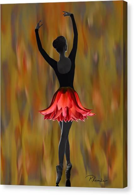Dappled Flame Canvas Print