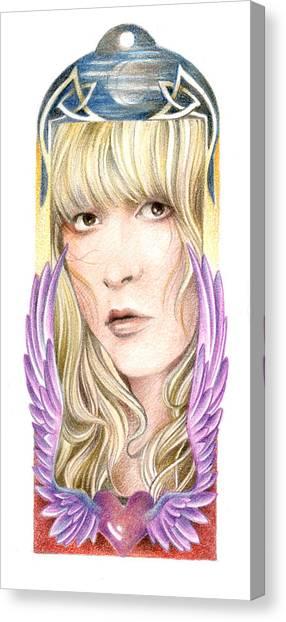 Stevie Nicks Canvas Print - Dare My Wild Heart by Johanna Pieterman