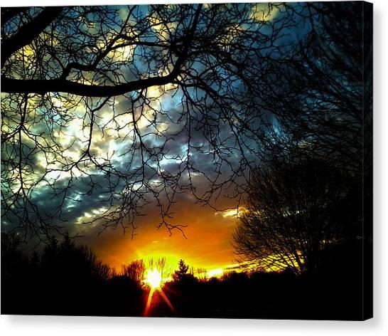 Dark Beauty Sunset Canvas Print by James Hammen