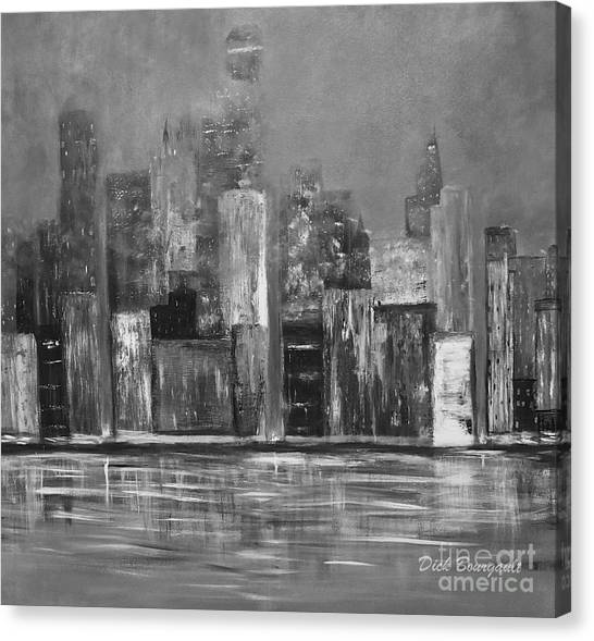 Dark Clouds Over The City Canvas Print