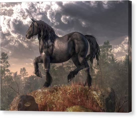 Black Stallion Canvas Print - Dark Horse by Daniel Eskridge